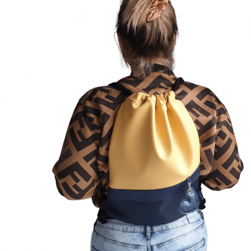 MissS Yellow nahrbtnik na vrvice Sara Rutar