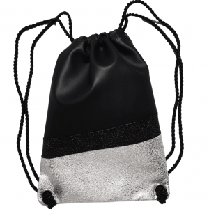 nahrbtnik na vrvice black silver