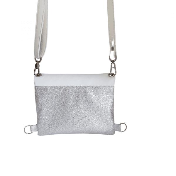 torba nahrbtnik srebrn